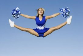 cheerleader ragazza pon pon