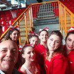 Stefano Cocconcelli e le cheerleaders milano